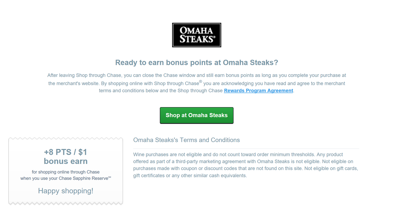 Deals and steals omaha steaks